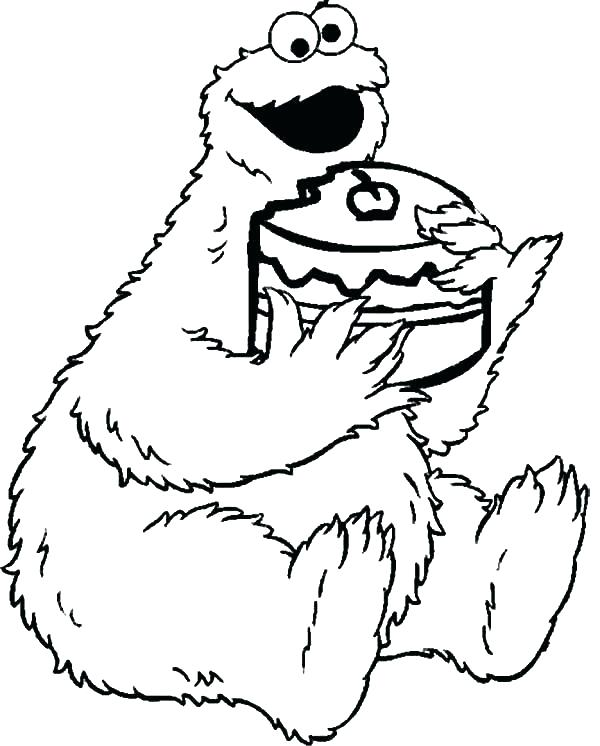600x746 Cookie Monster Coloring Page Top Cookie Monster Coloring Pages