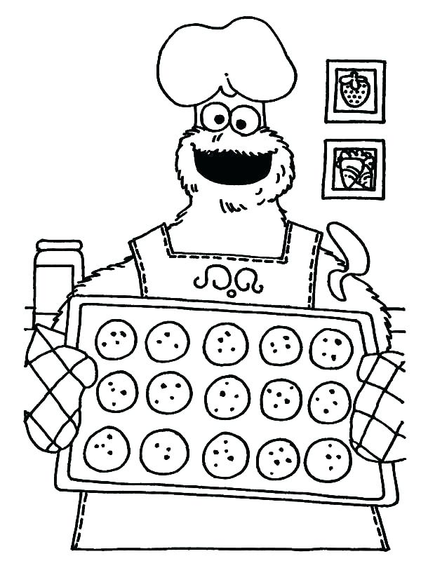600x820 Cookie Monster Coloring Pages Best Cookie Monster Coloring Pages