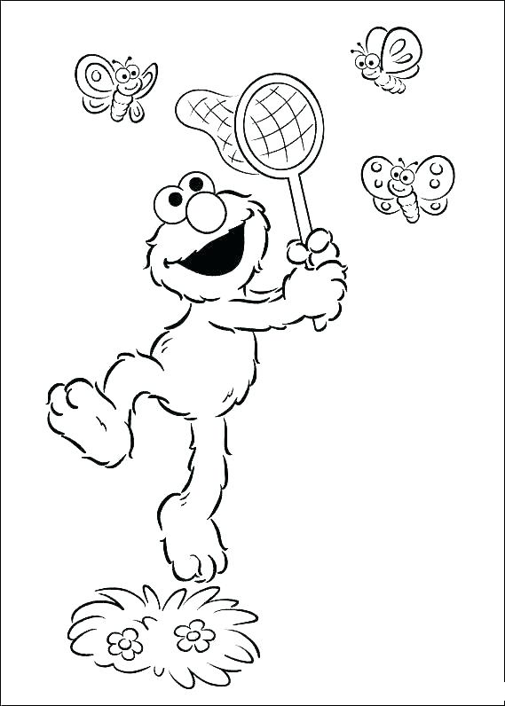 Elmo Christmas Coloring Pages