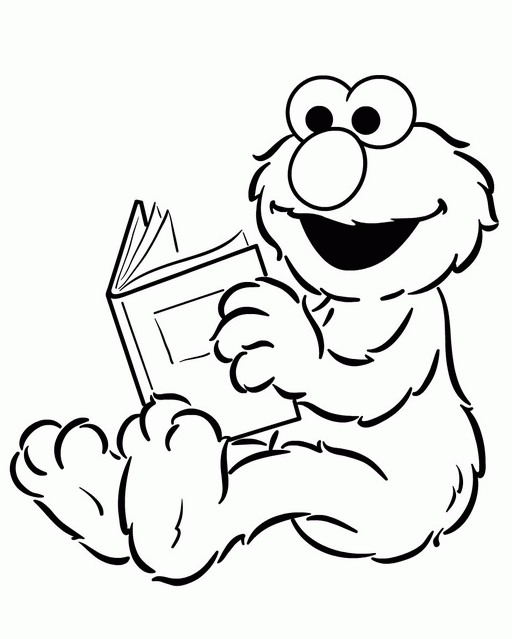 512x639 Elmo Halloween Coloring Pages