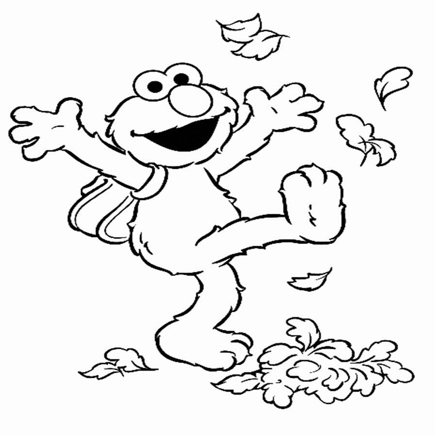 897x899 Sesame Street Halloween Coloring Pages Funny Coloring Elmo