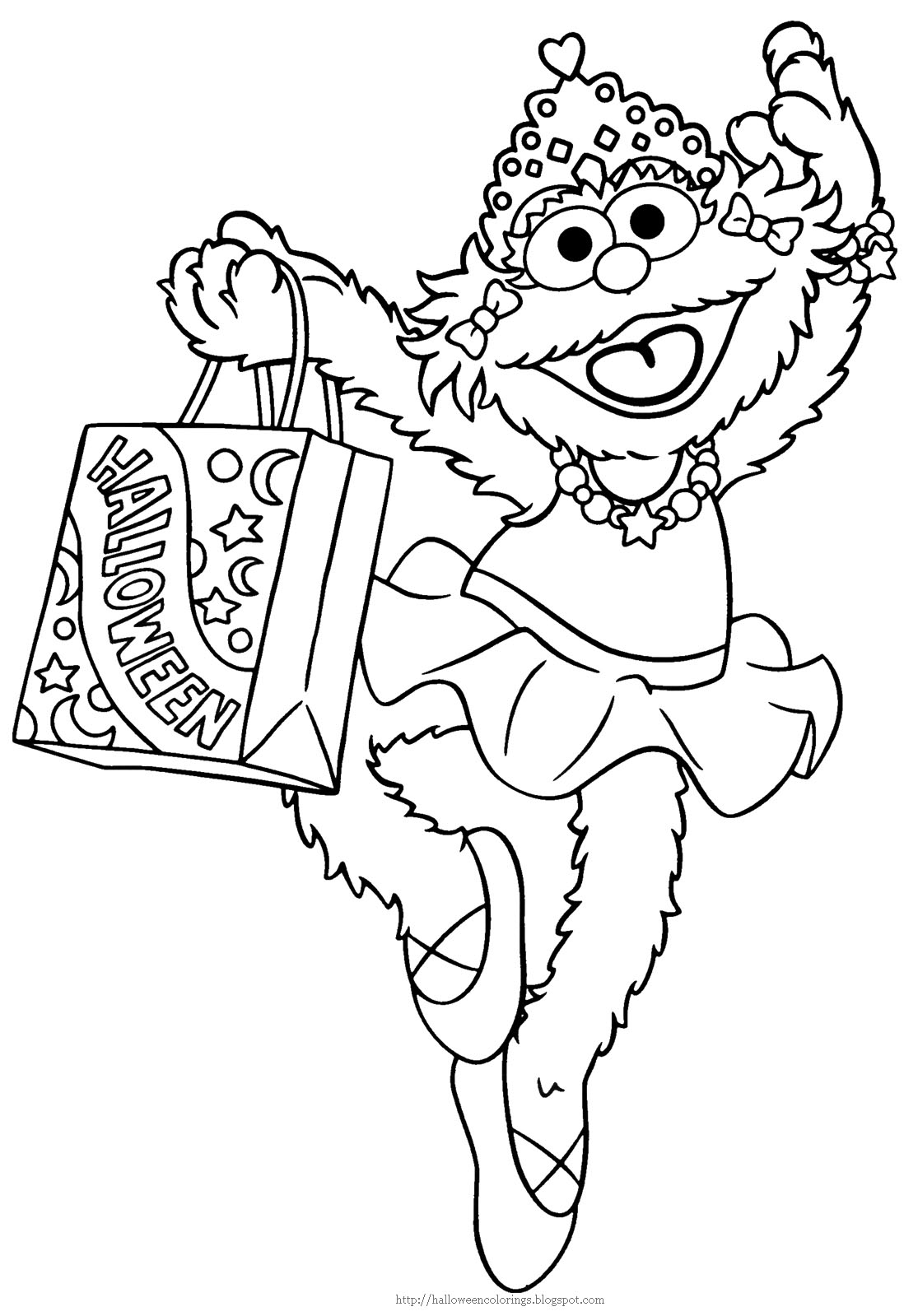 Elmo Halloween Coloring Pages at GetDrawings   Free download