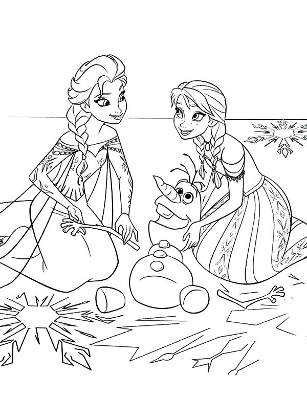 Elsa And Anna Coloring Pages To Print