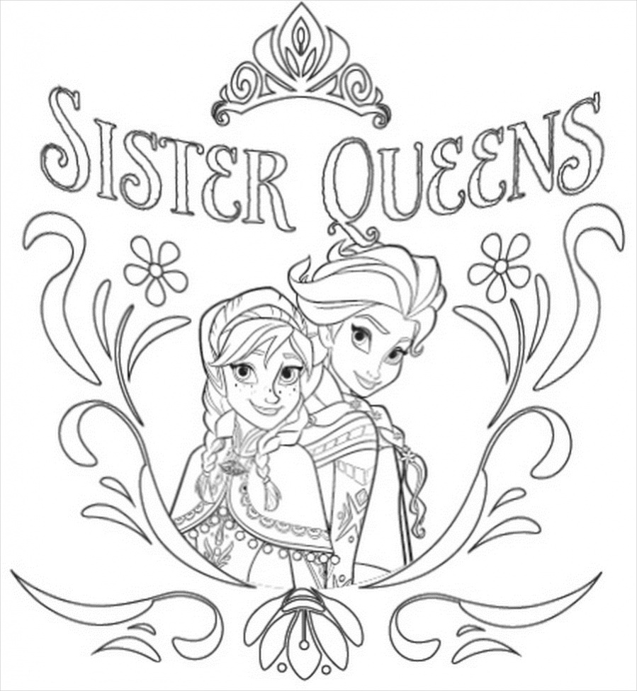 Elsa Anna Coloring Pages at GetDrawings | Free download