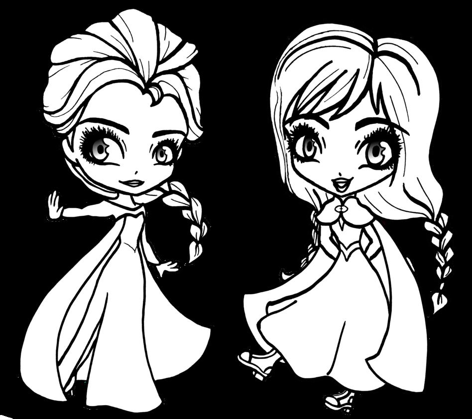 948x843 Frozen Elsa Coloring Pages Chibi