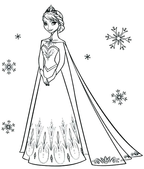 600x703 Coloring Pages Elsa