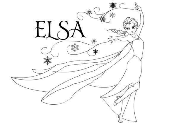600x450 Elsa Coloring Pages Printable Disney Princess Coloring Pages