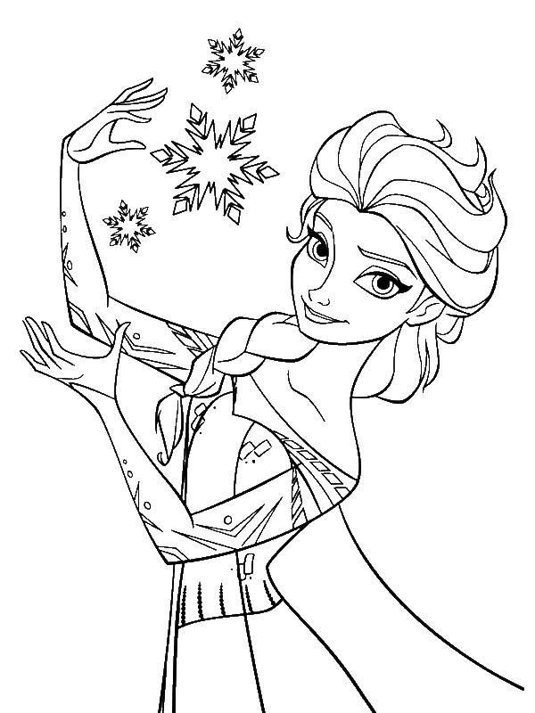 600x800 Elsa Princess Coloring Pages