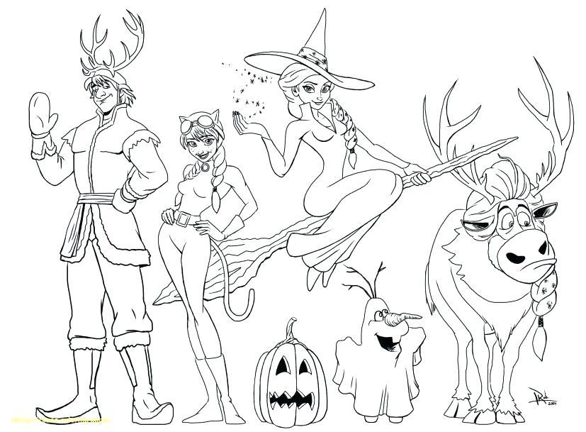 827x609 Elsa Coloring Sheet