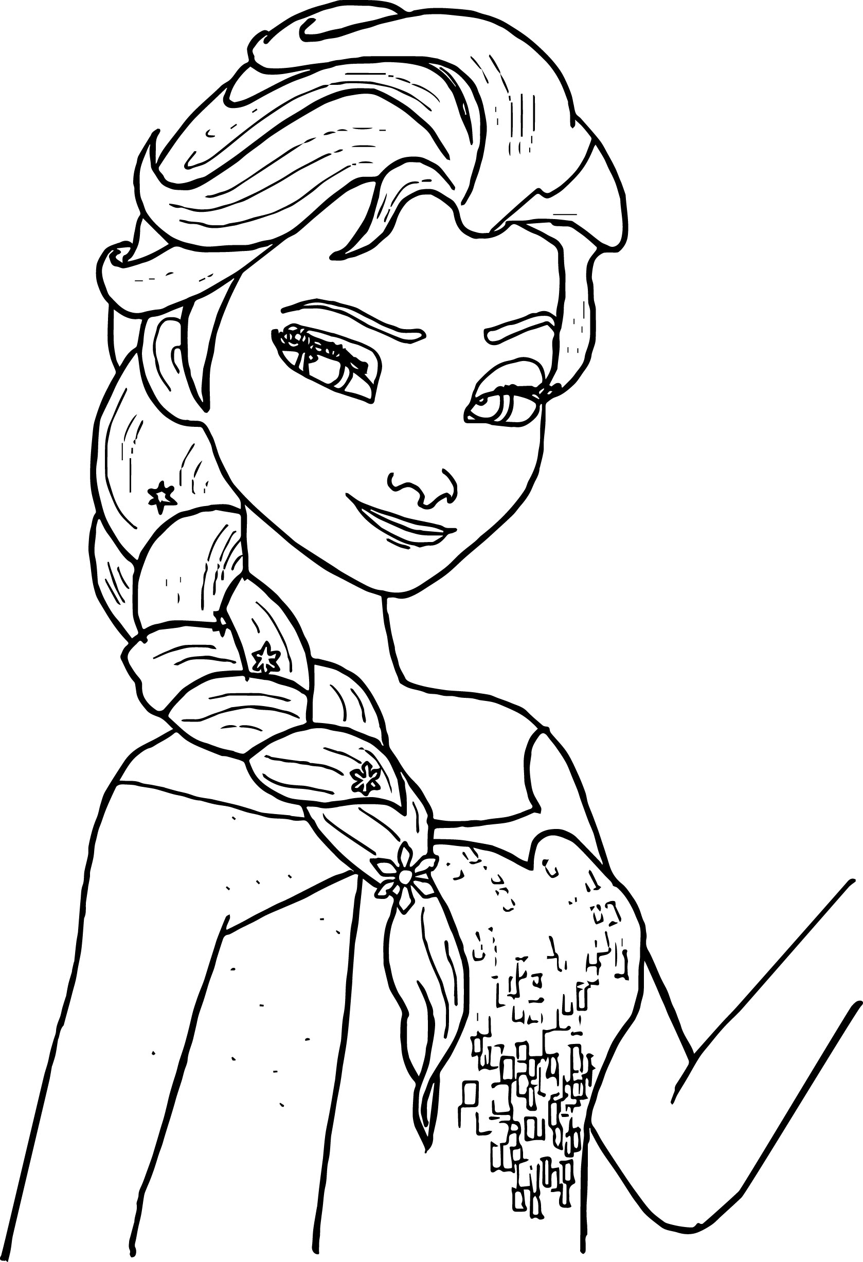 elsa head coloring pages | Elsa Castle Drawing at GetDrawings.com | Free for personal ...