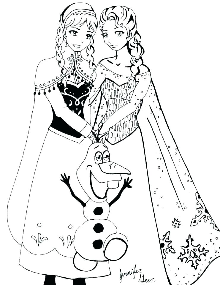 Elsa Coloring Pages Free Printable At Getdrawings Com Free For