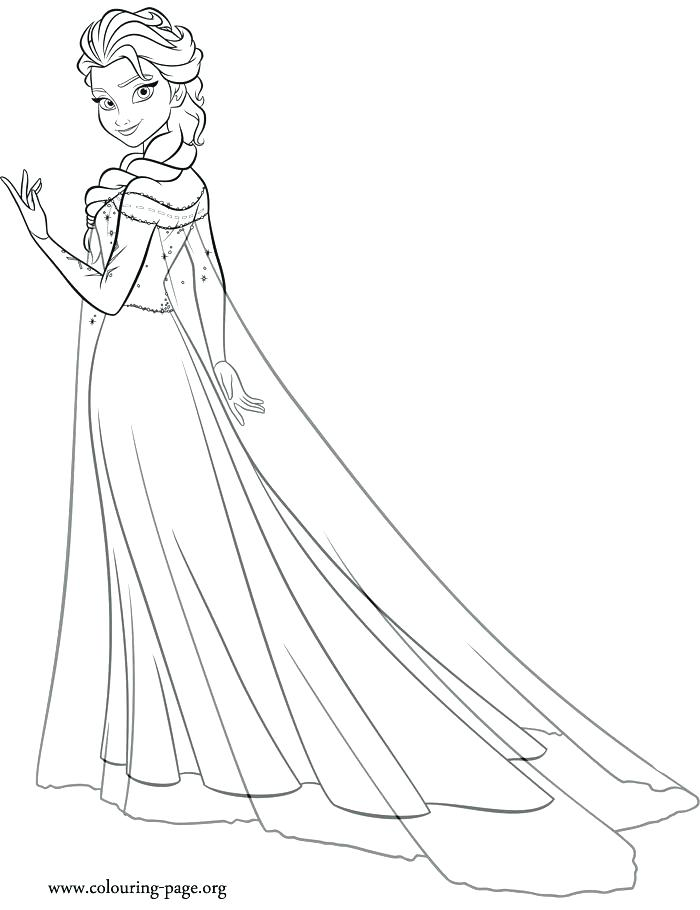 Elsa Frozen Coloring Page At GetDrawings Free Download