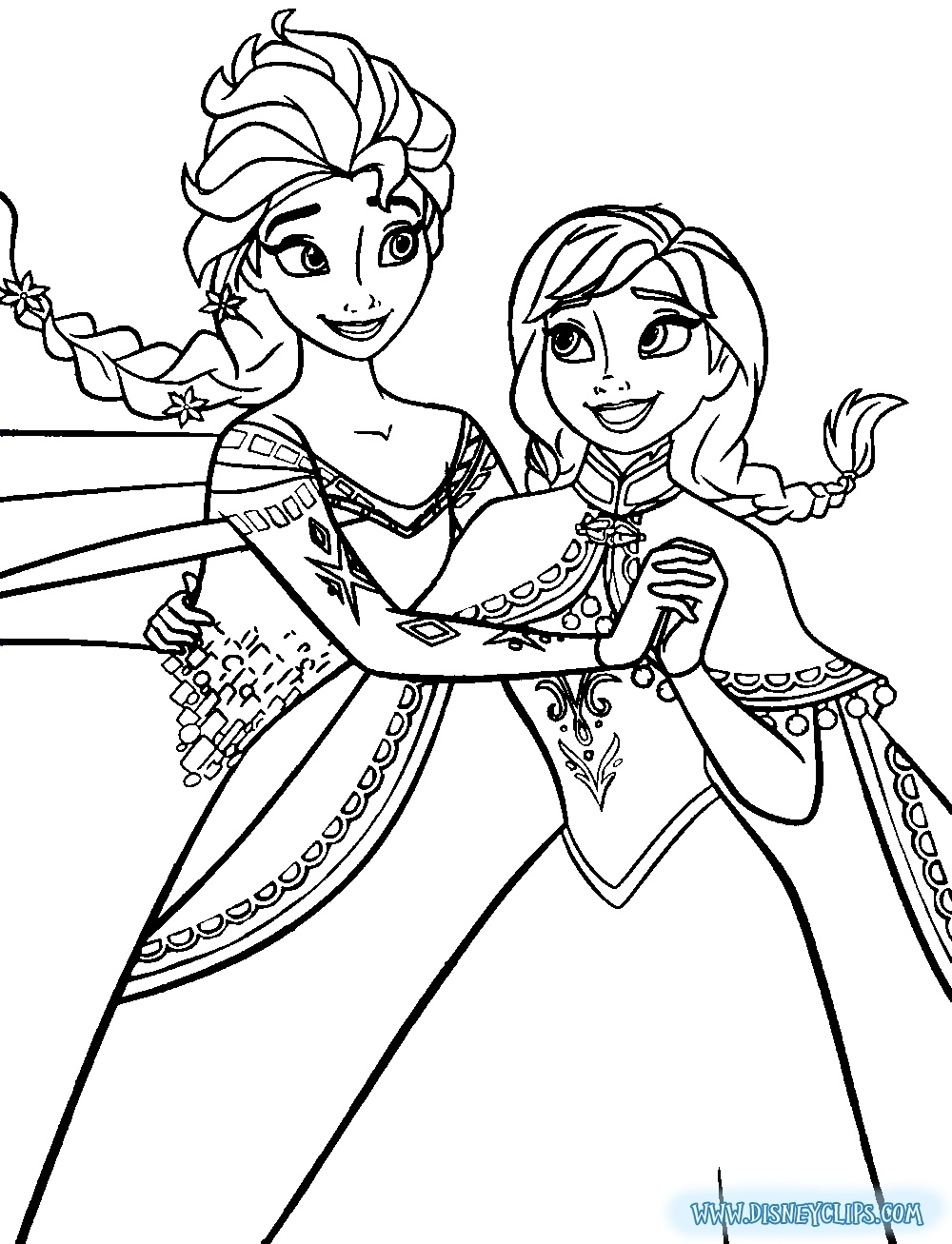 Elsa Frozen Coloring Page At Getdrawings Com Free For