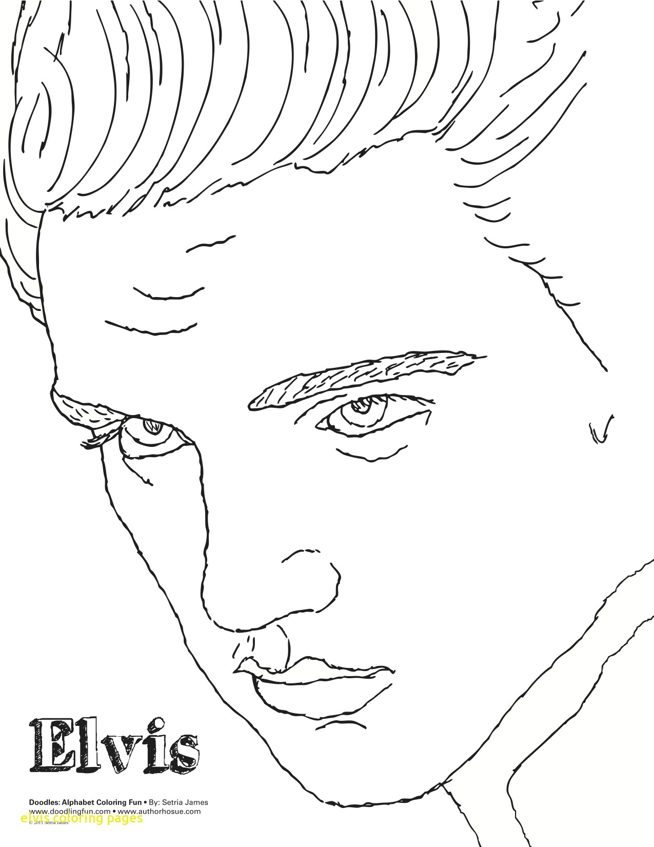 1275x1651 Elvis Coloring Pages