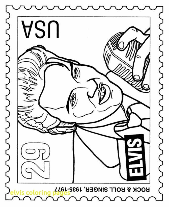 670x820 Elvis Coloring Pages With Elvis Presley Clipart Elvis Presley