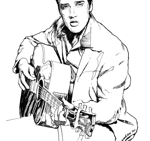 640x600 Elvis Coloring Pictures Awesome Elvis Coloring Pages For Coloring