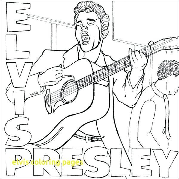 600x600 Printable Elvis Presley Coloring Pages