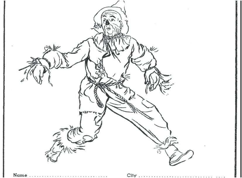 827x609 Wizard Coloring Page Great Scarecrow From Wizard Of Oz Coloring