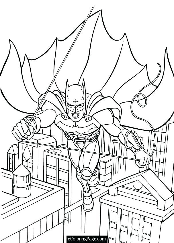 607x850 City Coloring Page Batman In City Coloring Page Dragon City