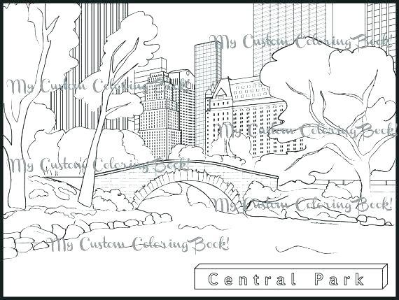 570x429 Emerald City Coloring Page City Coloring Page Fantasy City