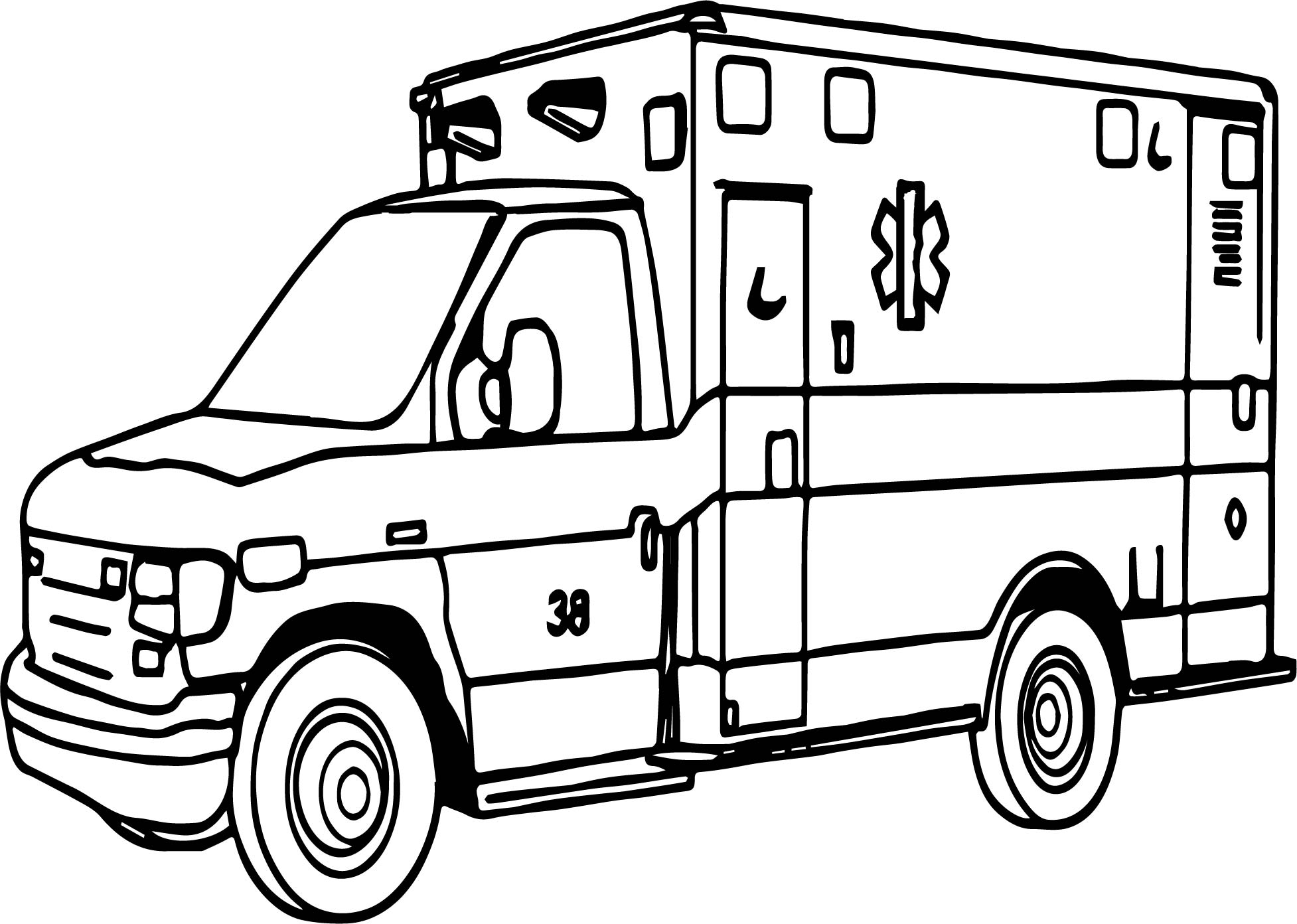 Emergency Coloring Pages