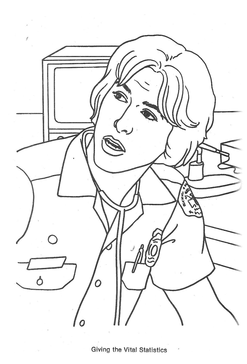 1020x1501 Emergency Tv Show Coloring Pages Emergency! Tv Show