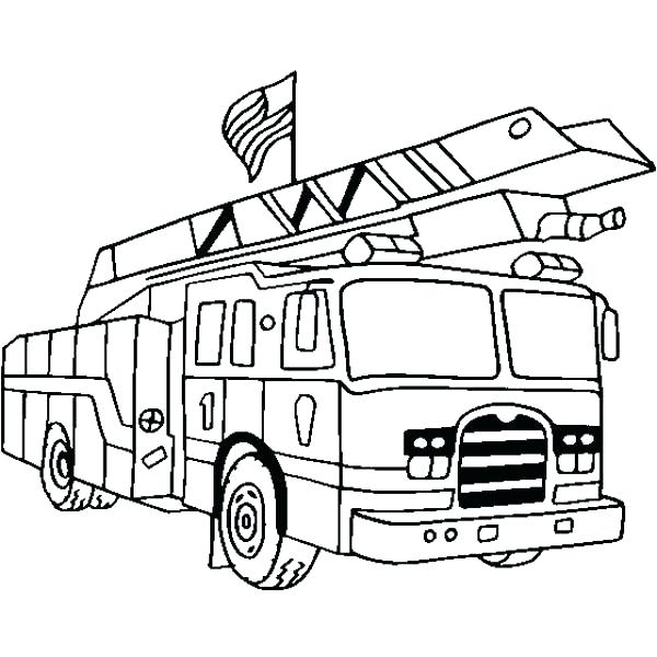 600x600 Fire Truck Pictures To Color Plus Throughout Us Red Is
