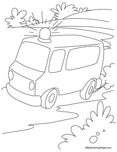236x305 Ambulance Coloring Pages Emergency Help Vbs Ideals