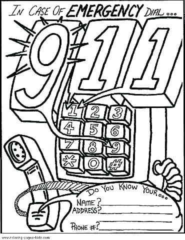 370x480 Emergency Coloring Pages