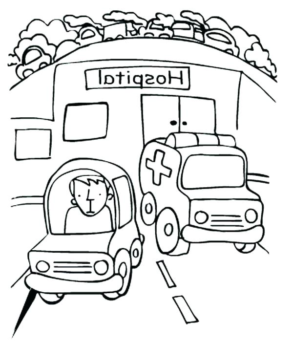 Emergency Vehicle Coloring Pages