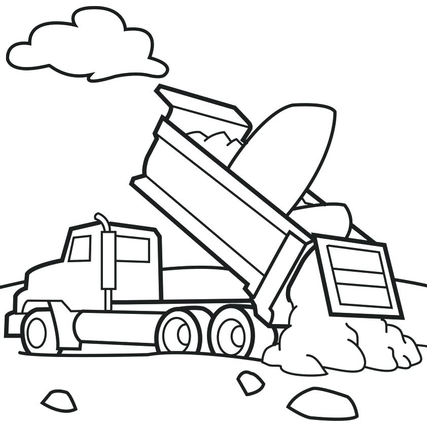 842x842 Vehicle Coloring Pages Car Transporter For Construction Working