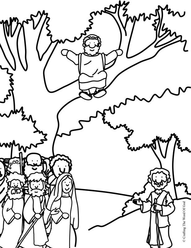 617x800 Cute Zacchaeus Coloring Pages Coloring To Humorous Zacchaeus Come