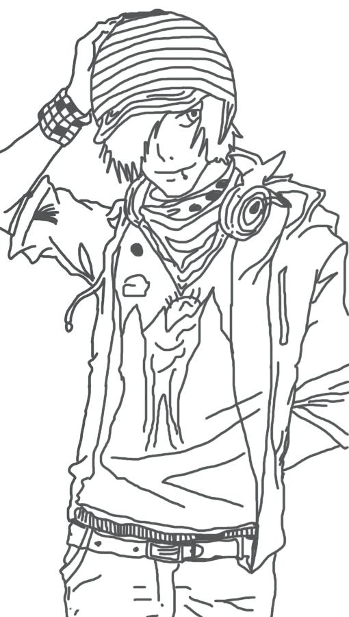 510x900 Emo Coloring Pages Emo Tribe Coloring Page Emo Anime Coloring