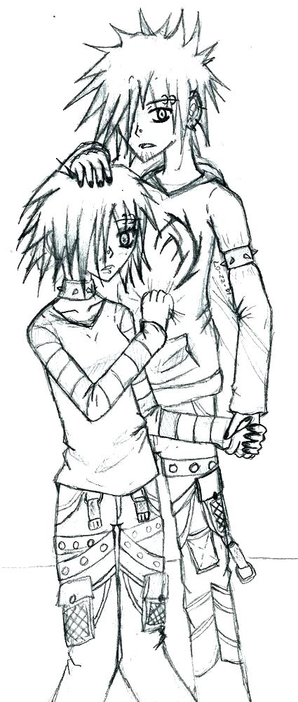 425x1000 Emo Girl Coloring Pages Medium Size Of Emo Anime Girls Coloring