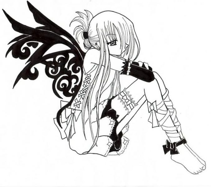 678x600 Emo Girl Coloring Pages Emo Girl Coloring Pages Anime Vampire Girl
