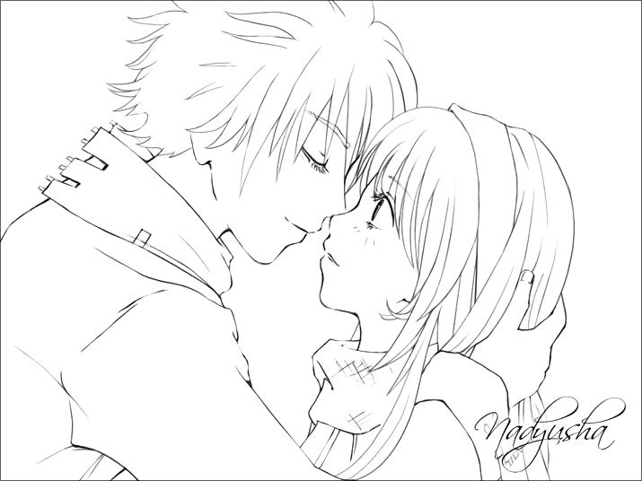 715x536 Cute Couple Coloring Pages Emo Girl Coloring Pages Emo Anime Girl