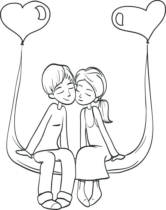 554x700 Cute Couple Coloring Pages Printable Valentines Day Coloring Page