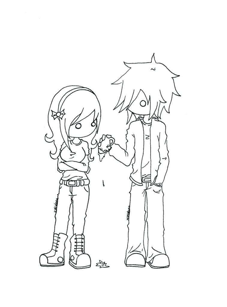 757x1024 Emo Coloring Pages Emo Coloring Pages Awesome Emo Couple Coloring