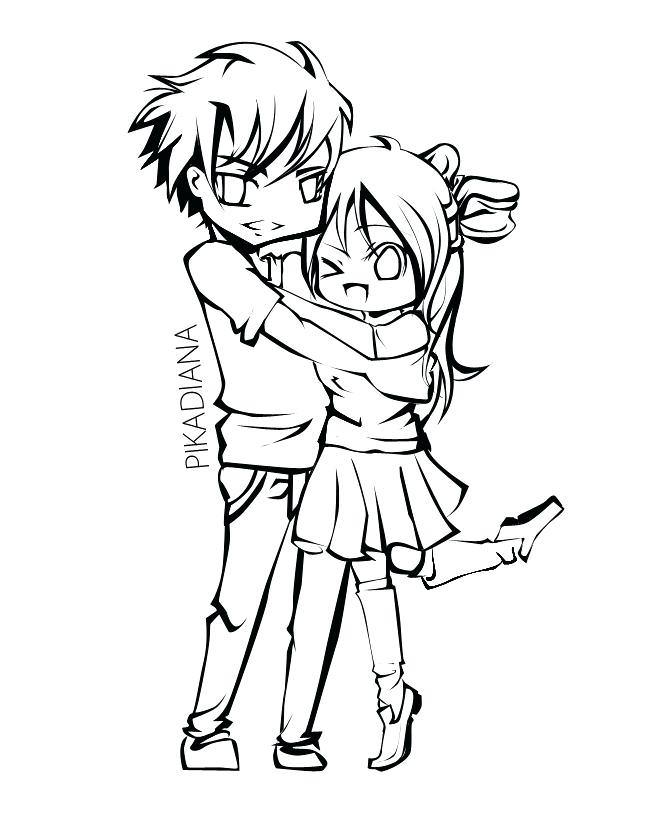654x822 Emo Couples Coloring Pages