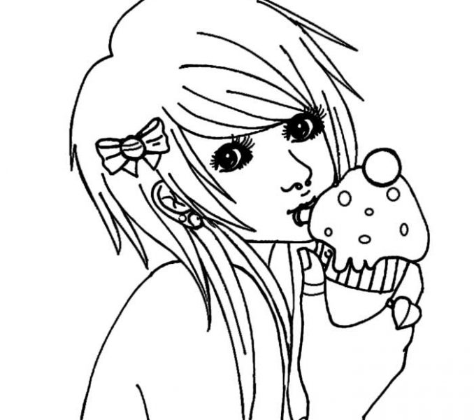 678x600 Emo Girl Coloring Pages Coloring Page Ideas