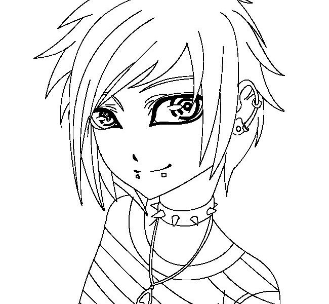 650x600 Emo Girl Coloring Pages Free Emo Girls Coloring Pages Printable