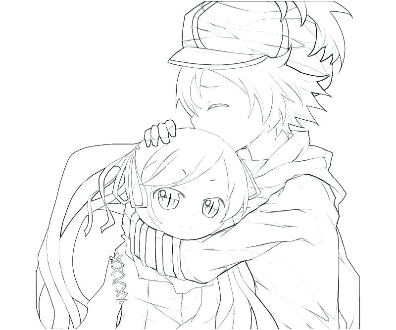 800x667 Anime Couples Hugging Coloring Pages Cute To Print Astounding Best