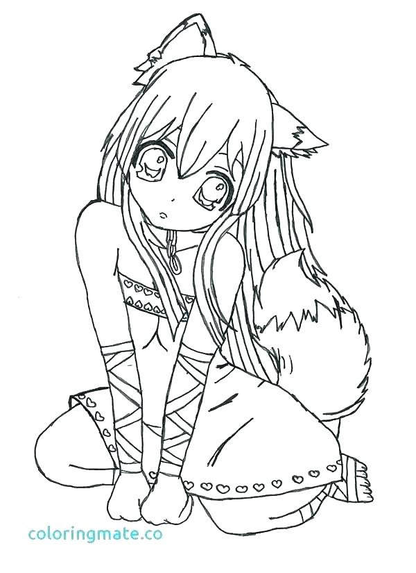 Emo Girl Coloring Pages