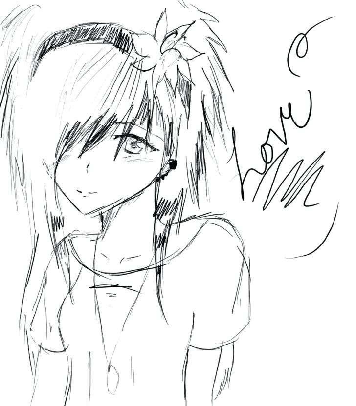 728x832 Emo Girl Coloring Pages Medium Size Of Emo Coloring Pages