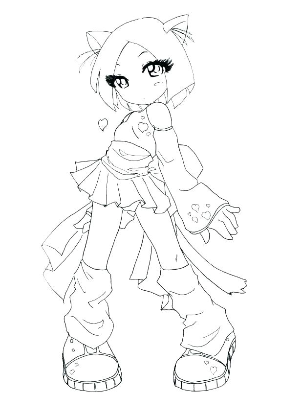 618x803 Emo Girl Coloring Pages