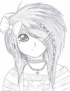 230x300 Anime Girl Neko Coloring Pages Emo Anime Girl
