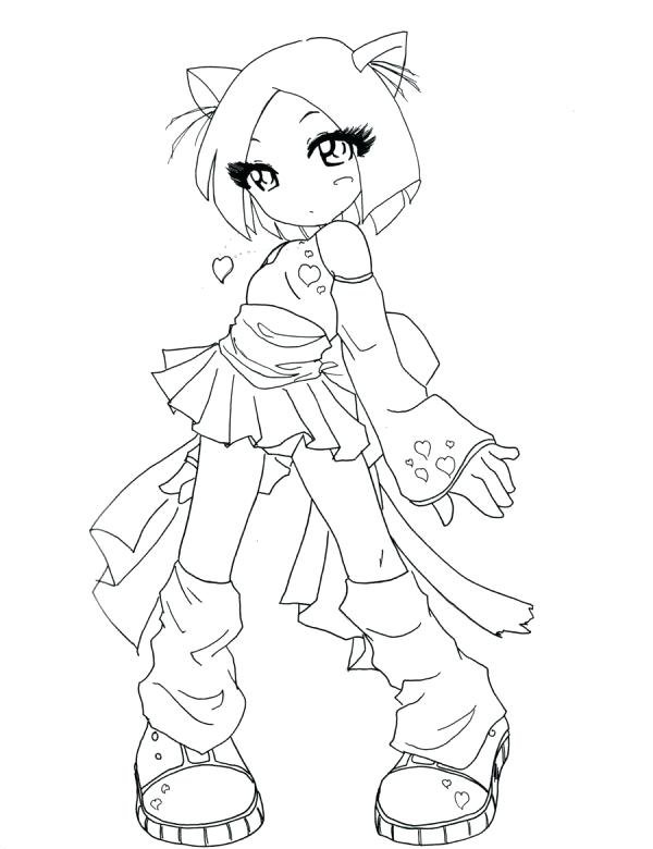 600x780 Emo Girl Coloring Pages Full Size Of Cat Anime
