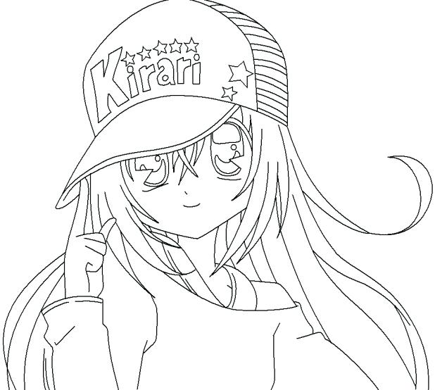 618x554 Emo Girl Coloring Pages Girl Coloring Pages Wearing Hat Marvellous