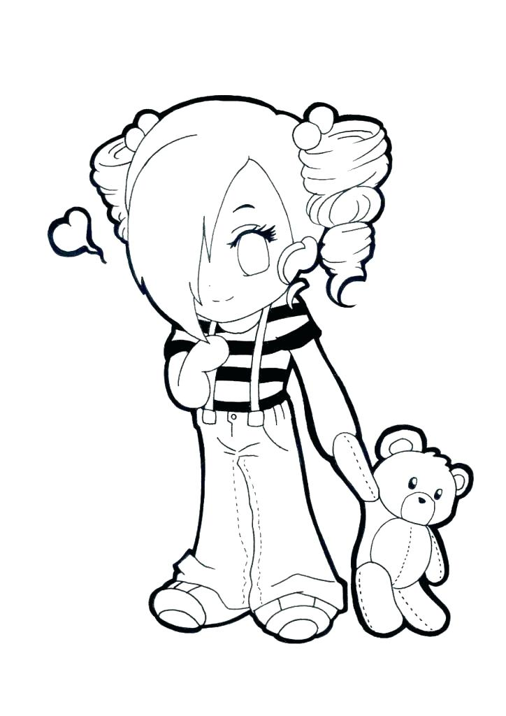 724x1024 Charming Anime Angel Coloring Pages Emo Girl Coloring Pages Pin