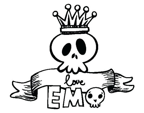 600x470 Emo Coloring Pages Emo Coloring Pages Emo Love Coloring Pages